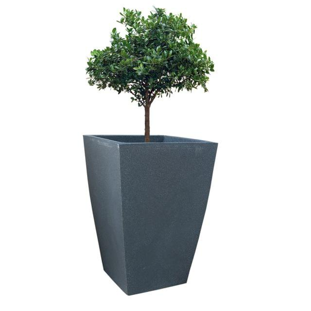 Yuccabe Italia FOX-B TK Grey Sqaure 24 Inches Planter