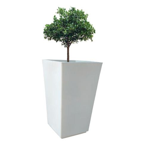 Yuccabe Italia FOX-B TK White Sqaure 24 Inches Planter