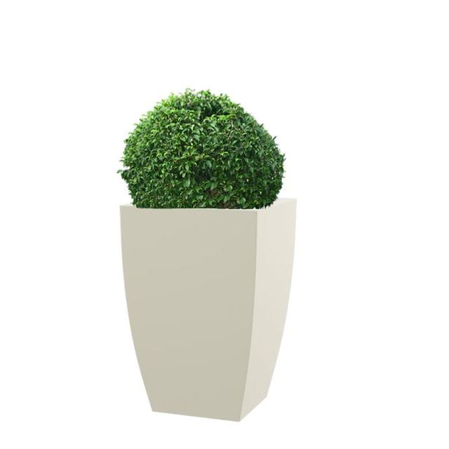 Cream White TK 30 Inches Square Planter
