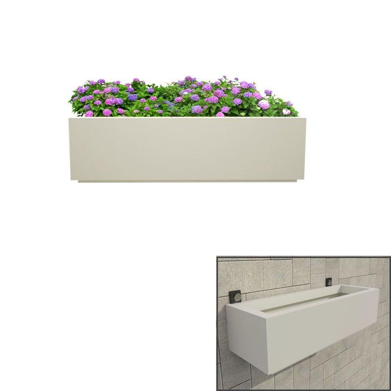 Creame White 24 Inches Box Tray Wall Hanging Planter