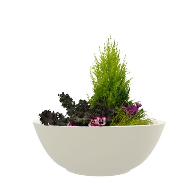 Creame White 24 Inches KTR Large Planter