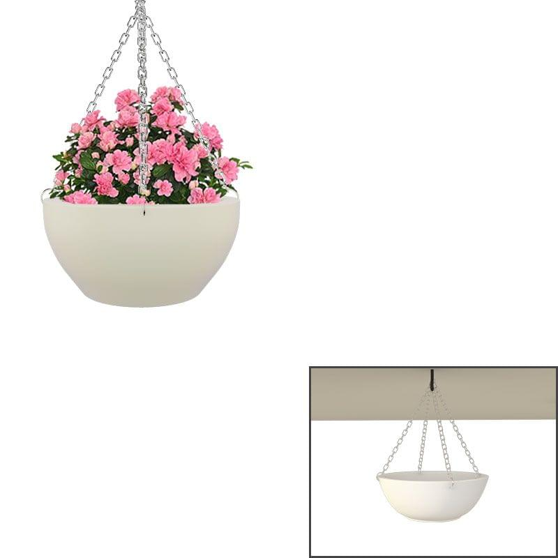 Creame White 14 Inches Ceiling Hanging Bowl Planter