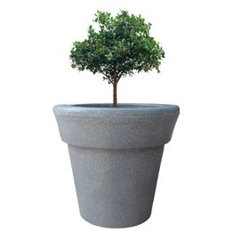 """Yuccabe Italia FOX-B ELN Grey Round 15 Inches Planter """