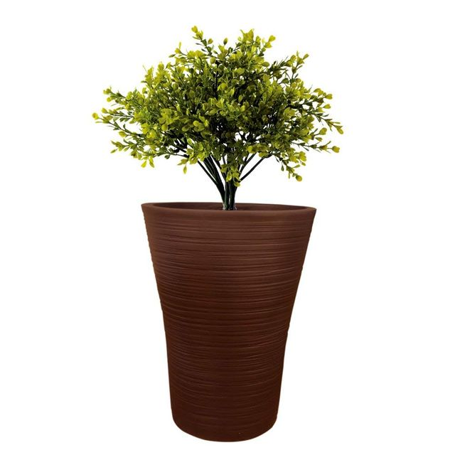 Yuccabe Italia 14 inches Brown LINZ-V Round Planter