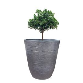Yuccabe Italia 18 inches Grey TEX-Cup Round Planter
