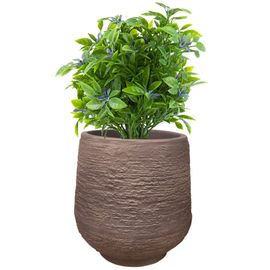 Yuccabe Italia 14 inches Brown up-Ston Round Planter