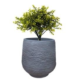 Yuccabe Italia 14 inches Grey up-Ston Round Planter