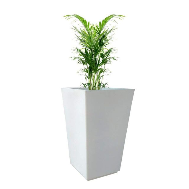 Yuccabe Italia Fox B TK 30 Inches White Square Planter