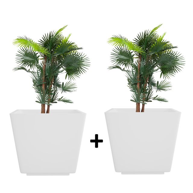 Pack of 2 Creame White 14 Inches GK Planter