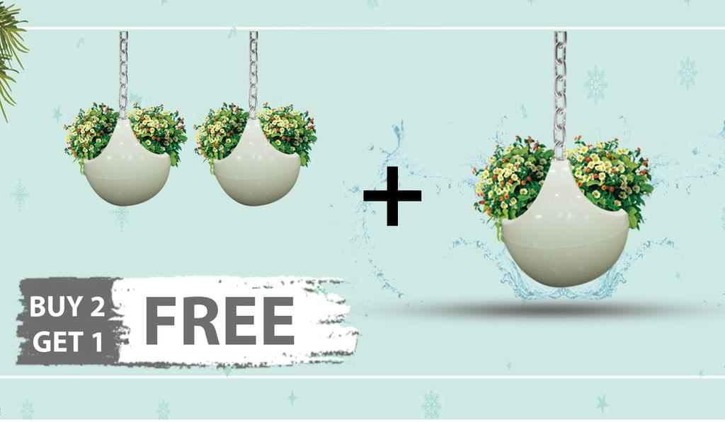 Pack of 3 Dolo Swan 9 Inches Ceiling Hanging Planter