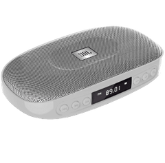 JBL Tune Wireless Bluetooth Speaker with SD Card reader (JBLTUNESILVER, Silver)