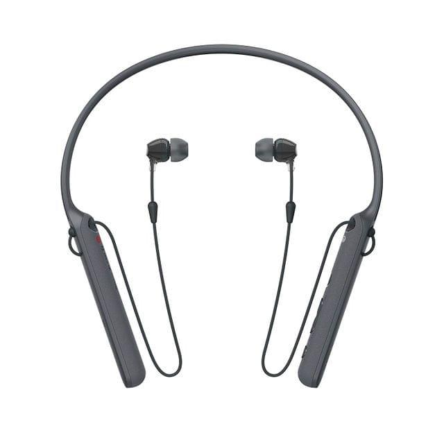 Sony - C400 Wireless Behind-Neck in Ear Headphone (WIC400/B)