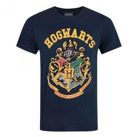 Harry Potter Mens Hogwarts Crest T-Shirt