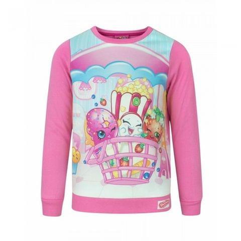 Shopkins Childrens/Girls Official Character Design Sweatshirt