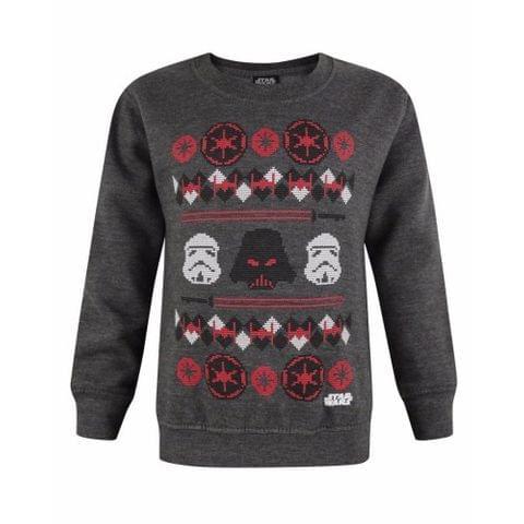 Star Wars Childrens/Boys Official Darth Vader Fairisle Christmas Jumper