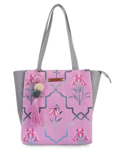 Desi Jaipur Pink & Grey Tote