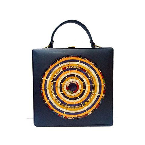 Target Square Blue Sling Bag