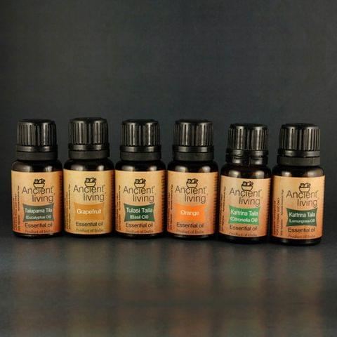 Set of 6 Organic Essential oils