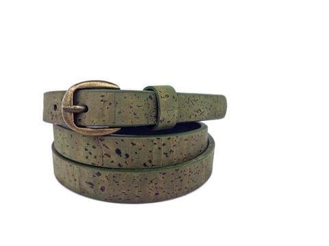Slim Olive belt