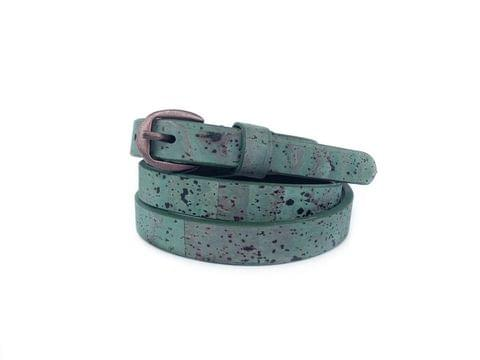 Slim teal belt