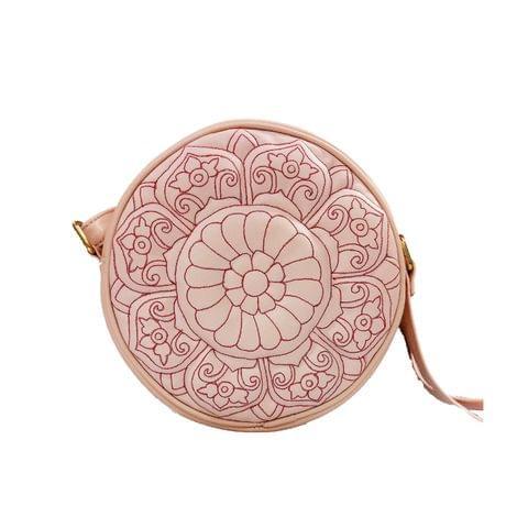 CIRCULAR  ETCHED SLING - Pastel Pink