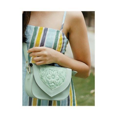 FLORA SADDLE BAG - MINT GREEN