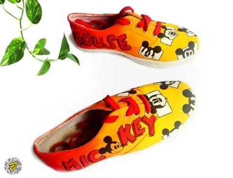 Mickey Colorful Painted Shoe