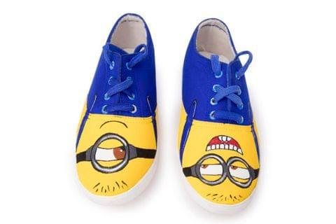 Minion Dark blue Painted Shoe