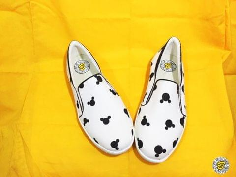 Micky Pattern Canvas slip-on