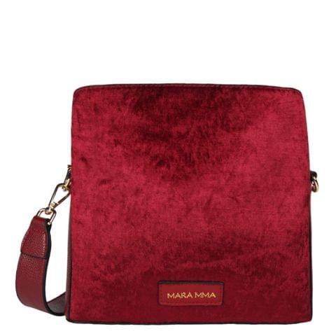 MILA SHOULDER BAG – RUBY RED
