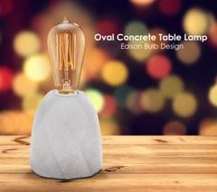 Exposed Oval Table Lamp