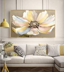 Beautiful Yellow Flower Framed Canvas Wall Print