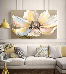 Beautiful Yellow Flower Framed Canvas Wall Print