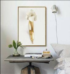 Golden Leaf Story Framed Canvas Print