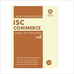 Oswal ISC MODEL SPECIMEN PAPERS OF COMMERCE Class 12 for 2018 Exam