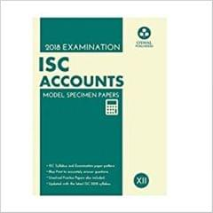 Oswal ISC MODEL SPECIMEN PAPERS OF ACCOUNTS Class 12 for 2018 Exam