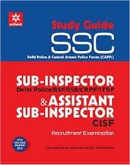Study Guide SSC Sub  Inspector & Assistant Sub  Inspector (CISF) : Recruitment Examination  (English, Paperback, Arihant Experts)