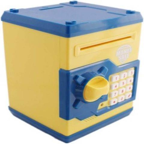 Toycra Money Safe - Yellow & Blue Coin Bank