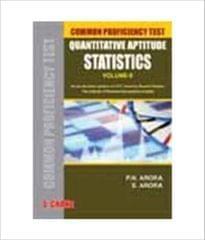 Common Proficiency Test: Quantitative Aptitude Statistics (Volume - 2) 1st Edition