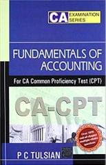 Fundamentals of Accounting for CA Common proficiency Test (CPT) 1st Edition