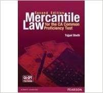 Mercantile Law for CA Common Proficiency Test (CPT) 1st Edition