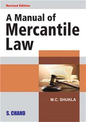 A MANUAL OF MERCANTILE LAW
