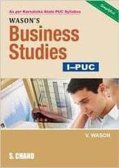 WASON'S BUSINESS STUDIES 1 PUC