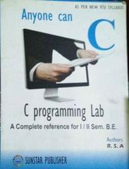 Anyone can C programming Lab  A complete reference for 1 2 sem BE