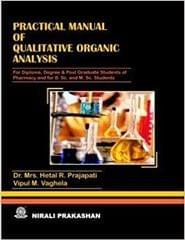 Practical Manual of Qualitative Analysis