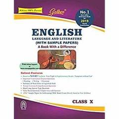 Golden English Language and Literature: (With Sample Papers) A book with a Differene for Class  10 (For 2019 Board Exams)