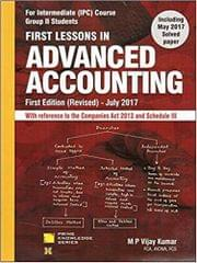 First Lessons in Advanced Accounting for CA IPCC Group II Nov. 2017 Exam