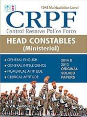 CRPF Central Reserve Poilce Force Head Constables Ministerial Exam Books