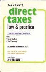 Direct Taxes Law And Practice