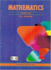Mathematics for Class 7 by R D Sharma (2018-19 Session)